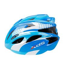 喜德盛(xds) 骑行头盔LX-008自行车山地车头盔一体成型儿童男女学生单车骑行装备安全帽 蓝白色