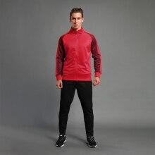 支持鸿星尔克轻奢高端篮人儿童运动套装男春秋季卫衣卫裤成人外套跑步休闲运动服两件套自主品牌 红色成人款 XXXXS