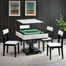 牌友实木折叠麻将机 全自动两用麻将桌 家用 高端定制主机-手动折叠单桌系列 【高端定制】手动折叠-五件套