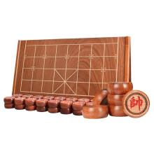 御圣香花梨实木中国象棋6分大号阴雕红木橡棋高档可折叠象棋棋盘套装
