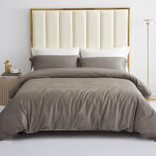 艾薇 套件家纺 全棉床上用品斜纹印花1.5米床床笠四件套 1.5米床 被套200*230cm 金属灰