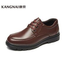 康奈 男士皮鞋圆头系带轻质深口单鞋耐磨舒适商务休闲男鞋 深棕色 40