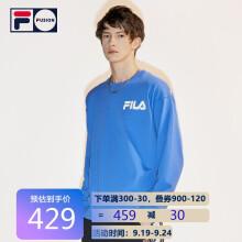 FILA FUSION斐乐情侣款卫衣 2021秋季新款宽松圆领中性款卫衣男女 蓝色-C-BU 160/84A/XS