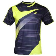 尤尼克斯YONEX羽毛球服新款运动服男吸汗速干时尚情侣短袖T恤110229BCR-007黑色M码