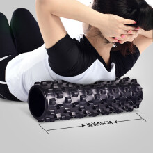 艾美仕 AiMeiShi 泡沫轴肌肉放松按摩滚轴健身瑜伽柱滚筒轮狼牙棒琅琊棒按摩轴 45cm空心狼牙黑色