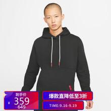 耐克NIKE 男子 经典 连帽 卫衣 KYRIE 帽衫 CK6746-010黑色L码