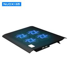 诺西(NUOXI)L112A   笔记本散热器(笔记本支架/散热垫/电脑配件/带调节风速和支架/4风扇/黑色/15.6英寸)