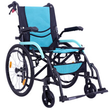 凯洋(KAIYANG) 凯洋KY863LAJ-20轮椅折叠轻便便携轮椅老人残疾人铝合金轮椅 蓝色升级款 扶手可抬