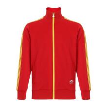 梅花牌经典运动服上衣拉链红色外套复古休闲夹克长裤春 国红撞色 S