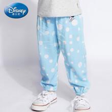 迪士尼 Disney 自营童装女童中小童梭织宽松长裤防晒防蚊2019春夏新款 DA926857E01 蓝底白点 120