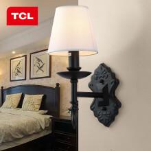TCL照明 LED卧室床头壁灯具 美式风格房间过道走廊墙壁灯 墨羽壁灯/E27/32*20cm