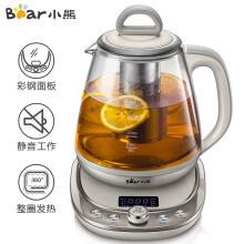 小熊(Bear)养生壶1.8升多功能烧水壶电热水壶煮茶壶带滤网花茶壶 全自动旋钮玻璃电水壶热水壶YSH-C18H5
