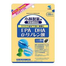 小林制药纳豆激酶酵素日本进口调节三高降血脂深海鱼油卵磷脂好搭档 蓝莓护眼素 EPA DHA 亚麻酸 EPA DHA 亚麻酸 1袋(180粒)