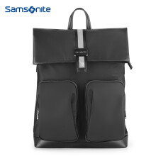 Samsonite/新秀丽双肩包电脑包男士时尚翻盖潮人背包可折叠中号TM7 黑色