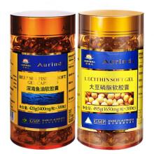 澳琳达深海鱼油软胶囊 含Omega-3DHA澳洲进口 建议搭配大豆卵磷脂 鱼油300粒+大豆磷脂300粒