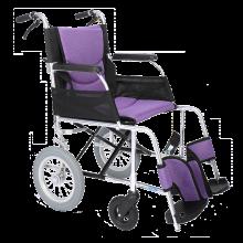 中进轮椅折叠轻便依赛哈专款日本进口航太铝合金超轻便携式小轮老人旅游代老年人残疾人旅行步简易手推车 NA-409YSH紫色