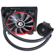 ID-COOLING Frostflow 120 一体式水冷CPU散热器 120排红黑版多平台扣具含AM4与2066