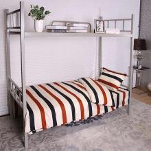 寝睡家纺 学生三件套 高低床铁架床宿舍上下铺床单被套枕套 时代三件套 0.9-1.0米学生三件套