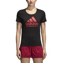 阿迪达斯 adidas GRAPHIC 女子运动服 短袖T恤 羽毛球服 黑色 CV4339 S码