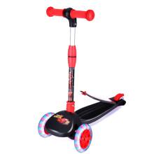 迪士尼(Disney) 儿童滑板车 三档可调一键折叠小孩脚踏车滑滑车储物踏板平衡车玩具代步车2-5岁红黑汽车款