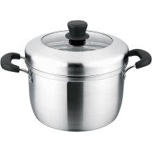 美厨(maxcook)汤蒸锅 304不锈钢单层26cm复底汤锅蒸锅多用锅 燃气炉电磁炉通用MCZ584
