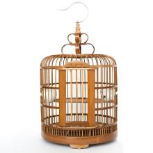 【买一带九】智汇 鸟笼子 竹质大号画眉八哥鸟笼子鹩哥鸟笼配件宠物用品 直径33cm 无配件