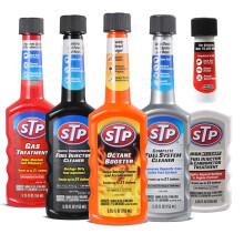 美国STP 汽油添加剂 燃油添加剂 发动机积碳清洗剂 改善汽油品质提升动力 1-5号套装