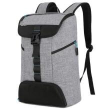 英制(BRINCH)双肩背包时尚运动健身休闲桶包书包多功能防泼水笔记本游戏本电脑包BW-900 15.6-17.3英寸灰色