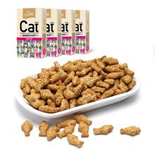京东超市路斯 Luscious 宠物零食 猫饼干金枪鱼鸡肉80g*4盒