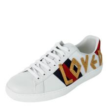 古驰 GUCCI GUCCI 男鞋 Ace系列白色牛皮刺绣男女款运动鞋 497090 DOPE0 9095 9/43