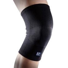 LP647KM春夏四季透气护膝运动保暖排球羽毛球防滑护具男女士四季通用 L 两只装
