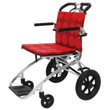 中进轮椅nah207折叠轻便日本进口航太铝合金na413超轻便携式老人旅游可上飞机代步简易小轮手推车 NA-413conlo系列红色圆点