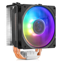 酷冷至尊(Cooler Master) T400炫彩版 CPU 散热器(支持I9 2066、AM4/ARGB风扇 /4热管/PWM温控/背锁扣具)
