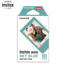 富士INSTAX 立拍立得 一次成像相机 MINI相纸 天空蓝10张(用于mini7C/7s/9/8/25/90/70/hellokitty/SP-2)