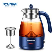 现代(HYUNDAI)养生壶蒸汽蒸茶壶煮茶器家用玻璃电水壶蒸汽喷淋式煮茶壶黑茶壶电热水壶QC-ZC1126