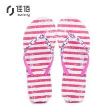 Hommy 情侣款人字拖 简约时尚休闲沙滩夹脚凉拖鞋女款 粉色36 HM3044