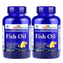京东国际【美国进口】麦弗逊深海鱼油软胶囊含EPA DHA中老年人调节血脂保健品 建议搭配大豆卵磷脂降血压产品 两瓶装