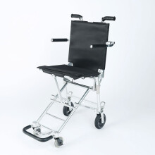 中进207轮椅折叠轻便日本进口航钛铝合金老人登机轮椅超轻便携简易手推车可上飞机老年人旅行残疾人代步车 NAH-207常规款黑色