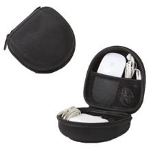 数码收纳包苹果电脑充电器 罗技鼠标收纳盒 G502 G402鼠标盒 黑色【赠送一包绑线带】