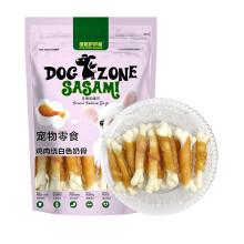 多格萨萨蜜 宠物食品狗零食 鸡肉绕白色奶骨90g 软骨素磨牙棒狗咬胶