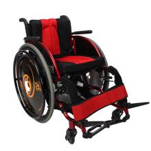 AUFU 佛山东方轮椅后轮可拆海绵座垫铝合金休闲运动轮椅 脚托角度可调 运动轮椅+红色坐垫