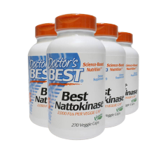 美国Doctor's Best纳豆激酶胶囊Nattokinase脑梗降血脂 4瓶