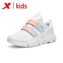 特步童装 儿童运动鞋女童鞋2018新款中大童休闲跑步鞋女童鞋子 682415329086 白粉 37