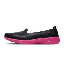 斯凯奇(Skechers)女款舒适减震网眼涉水沙滩健步洞洞鞋 14690 黑色/桃红色 35
