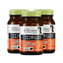 日本野口医学研究所(Noguchi) 辅酶Q10软胶囊含大豆卵磷脂 中老年保护心脏抗衰老保护心脑血管 3瓶180粒