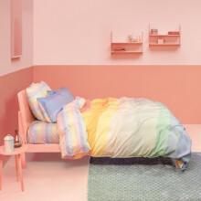 ESPRIT 床上四件套纯棉全棉斜纹床品套件被套床单被罩 1.5M 彩虹条纹EAD0482 1.5m床适合200*230cm被芯