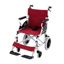 泰康 轮椅车折叠轻便便携 航太铝合金超轻残疾人老年人老人轮椅车轻便32A 6寸前轮12寸后轮