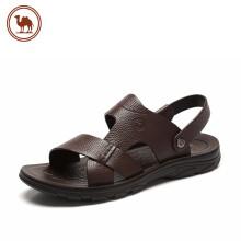 骆驼牌 牛皮凉鞋男休闲两用舒适凉拖鞋沙滩鞋 W922263652 棕色 41