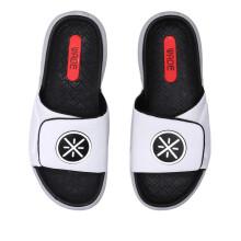 李宁 LI-NING 男子轻便潮流拖鞋AGAP009-1 标准白/标准黑/微晶灰 42
