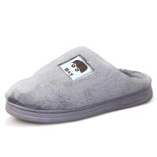 回力(Warrior)童鞋棉拖鞋卡通舒适男童女童保暖拖鞋 WST-2288 灰色 36/37